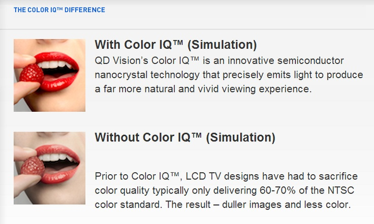 Sony announced last week at the Consumer Electronics Show one of the first quantum dot television displays. Made with QD Vision Color IQ quantum dot technology, the upcoming Triluminous television promises to bring the most vibrant color to large displays.