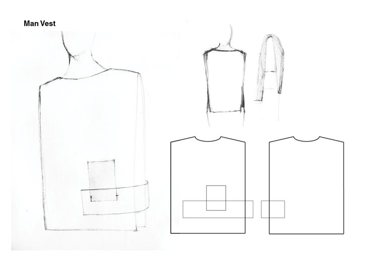 #WHITE project - Male vest sketches #fashion #design #clothing #accessories #fabrics