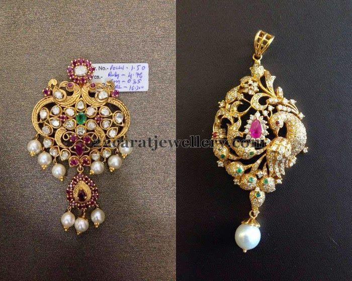 Jewellery Designs: Pendants Below 25 Gms