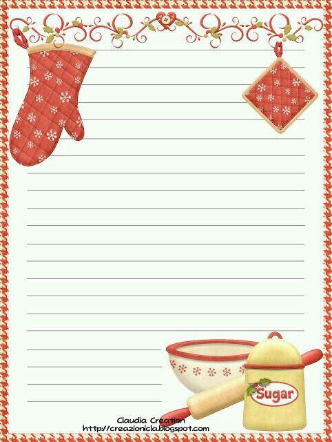 Free printable recipe card