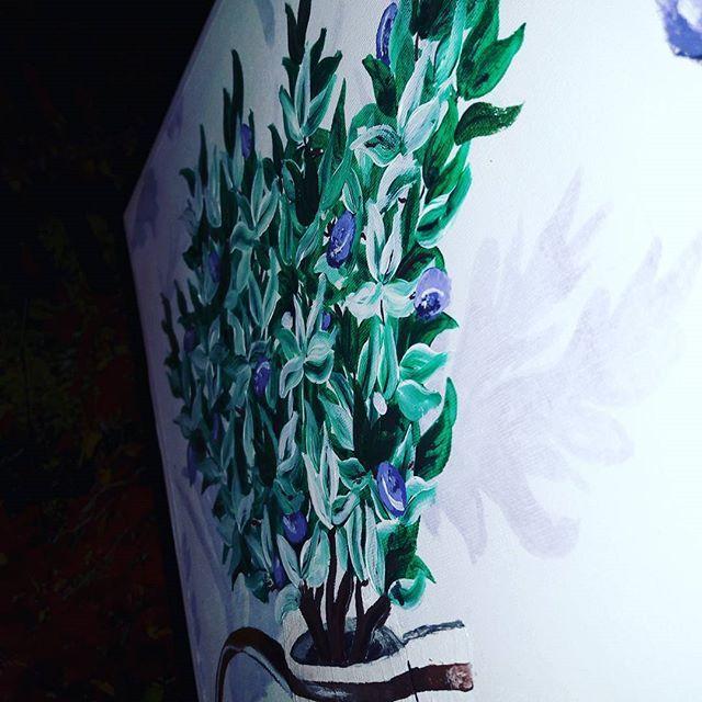 #art #pain #painting #flowers #kvet #kvety #acrylics #acryl #colors #color  #krasa #nice #blue #modra #white #love #smile #fantázia #fantasy #obrazok  #musicmyheart