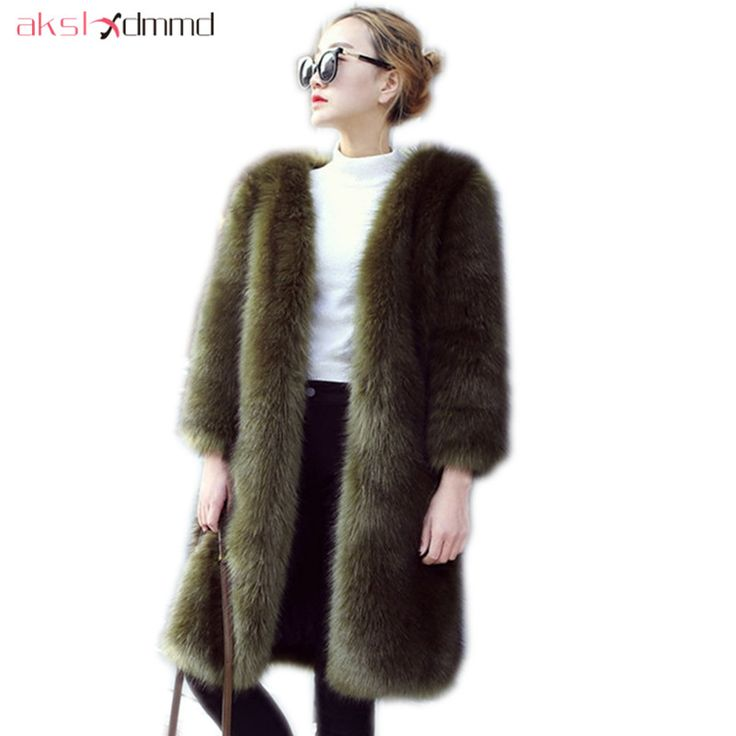 Cheap faux fur outerwear, Buy Quality fur jacket directly from China faux fur coat Suppliers: AKSLXDMMD Fashion Faux Fur Coat 2017 New Thick Long Fur Coat Women's Fur Jacket Winter Overcoat Faux Fur Outerwear LH1249