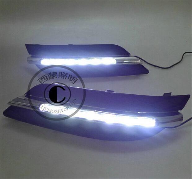 163.40$  Watch now - http://alin52.worldwells.pw/go.php?t=32784830760 - Hireno Super-bright LED Daytime Running Light for Mercedes-Benz W245 B180 B150 B170 B200 2008-10 LED Car DRL fog lamp 2PCS