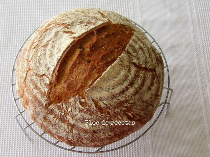 #Receta de #Pan de centeno integral y espelta con higos en combo de hierro