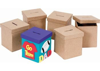 Papier Mache Money Box Pack of 6 - MTA Catalogue They come plain ready for your own creation.