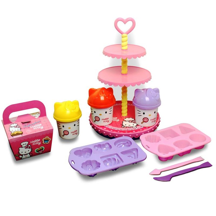 Massinha de Modelar - Cupcakes da Hello Kitty -