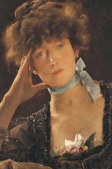 Alfred Stevens: Sarah Bernhardt, 1885.