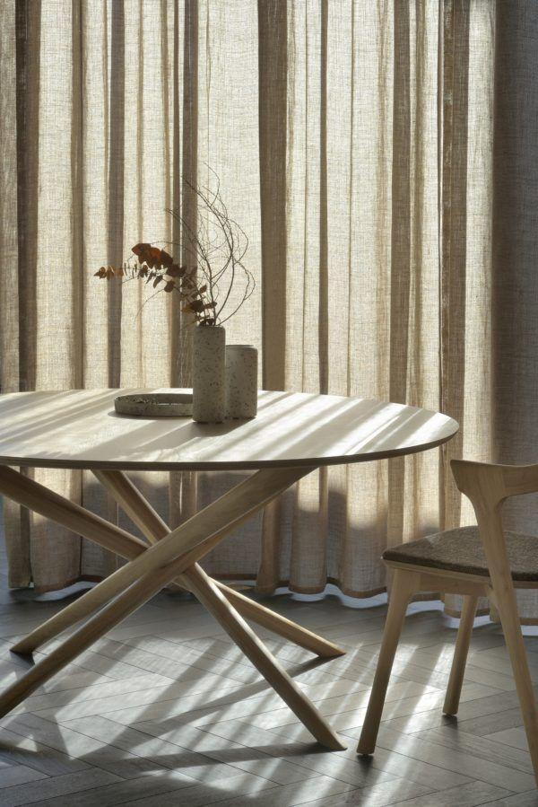 Ethnicraft Oak Mikado Round Dining Table Solidoak Furniture