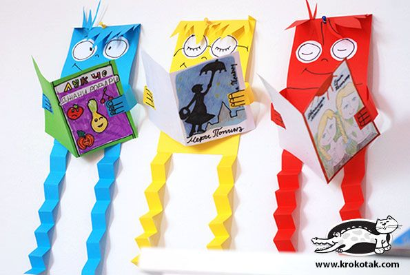 These would be cute for literacy week crafts