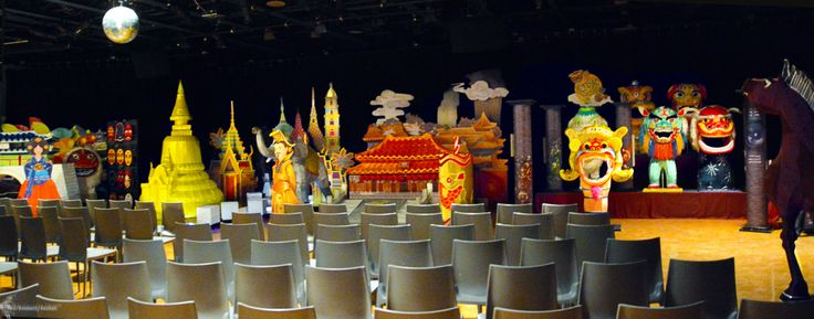 This was presented as a theatrical play inspired by puppetry that would illuminate as the narrator traveled through historical Asian places, traditions and cultures.  © Kimberly Mallett