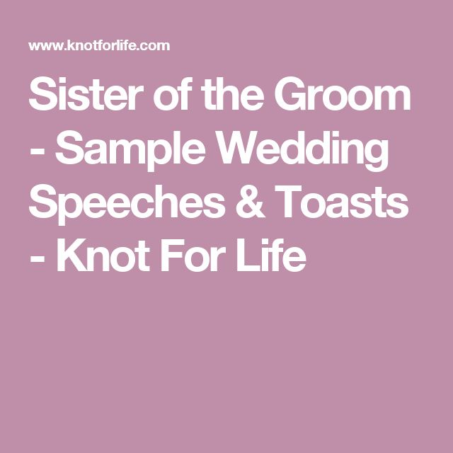 17 Best Ideas About Wedding Speech For Sister On Pinterest