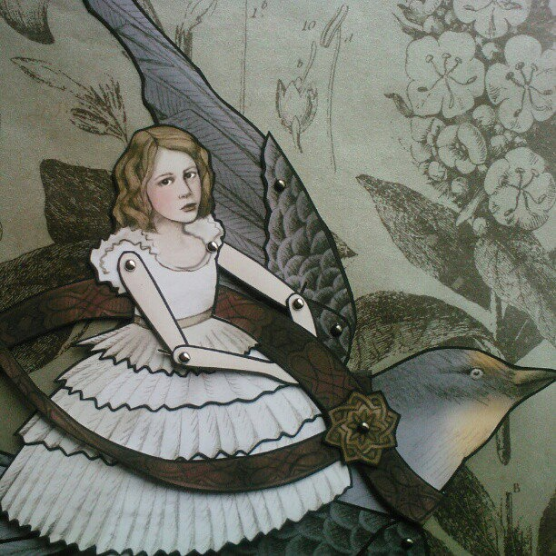 Thumbelina & The Swallow Jointed Paper Doll by FiveAndNineteen