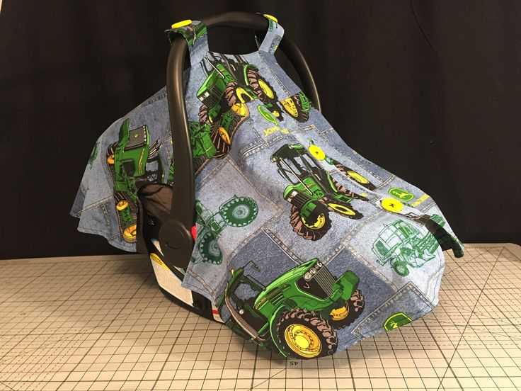 Baby Car Seat Carrier Cover - Infant Carrier Canopy - John Deere Tractor Carrier Cover by TwigsandVine on Etsy
