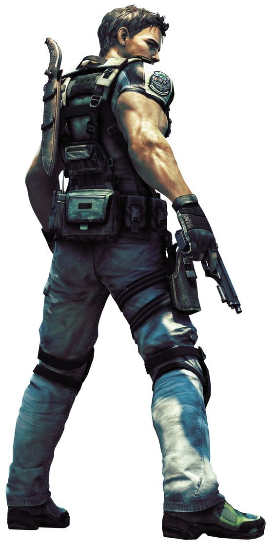 Chris Redfield, Resident Evil 5. love the improved graphics- big breakthrough from the first to the sixth!