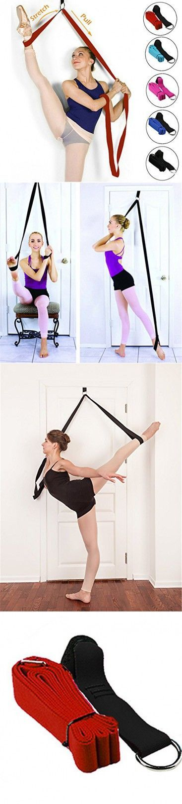 Door Stretch Band - Get More Flexible With The Door Flexibility Trainer To Improve Leg Stretching - Perfect Home Equipment For Ballet, Dance And Gymnastic Exercise taekwondo & MMA (Red)