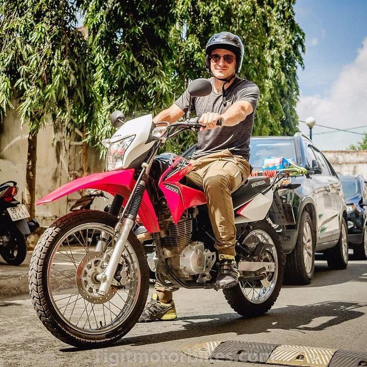 Thilo from Germany is ready to explore Cat Tien National park with Tigit Honda XR150 #tigitmotorbikes #hondaxr150 #cattien #cattiennationalpark #dirtbike #dirttrack #motorbikevietnam #hochiminhmotorbikes #vietnamholiday #vietnam #travelonbikes