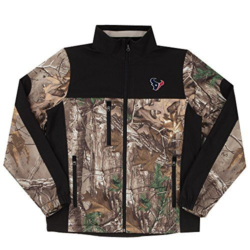 NFL Houston Texans Hunter Colorblocked Softshell Jacket Real Tree Camouflage XLarge >>> More info could be found at the image url.