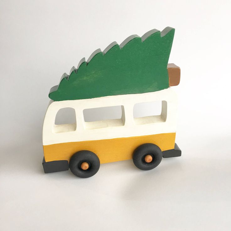 Camper van toy, baby christmas toy, wood van toy, toddler stocking stuffer, christmas gift for babies, wood car toy, wood push toy, wood toy