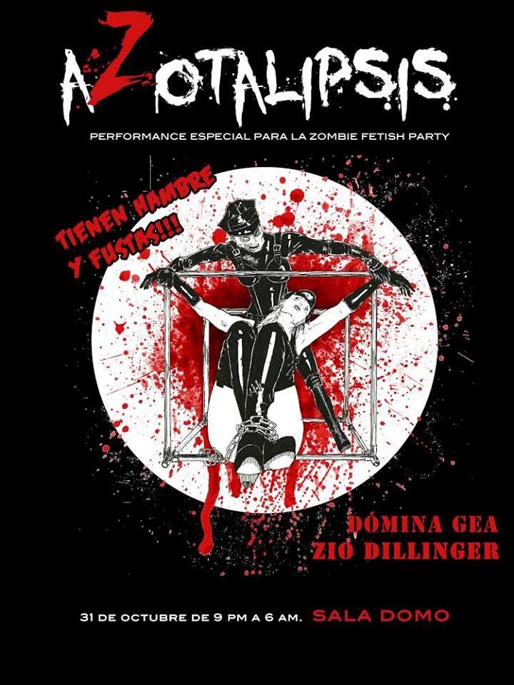 """Zombie Fetish Party: aZotalipsis"" (Oct14, Madrid). Dómina Gea & Zio Dillinger. By: Chus Sarrión."