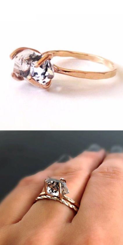 Quartz Herkimer Ring