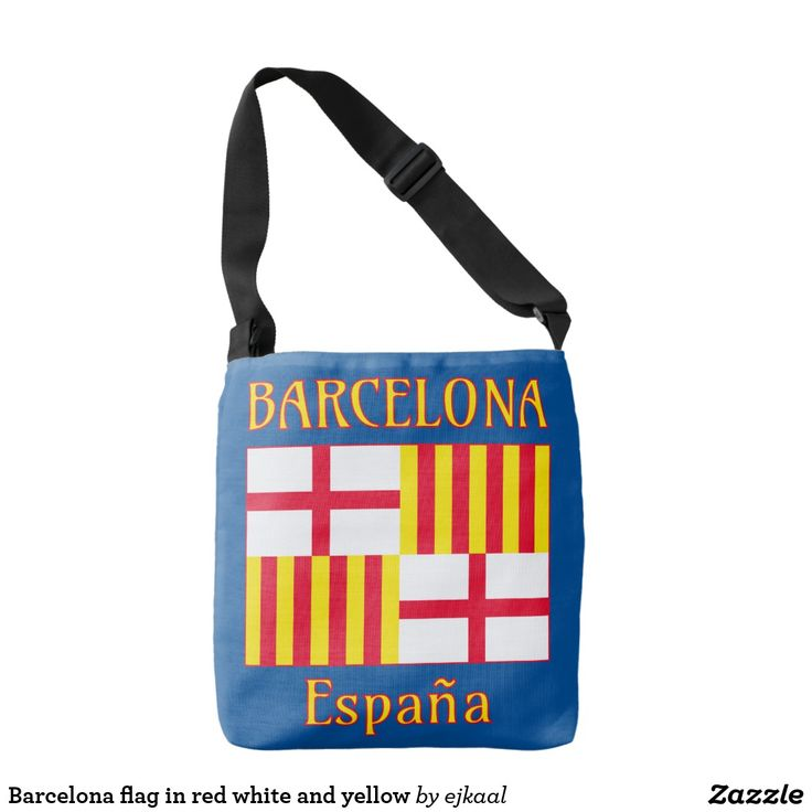 Barcelona flag in red white and yellow