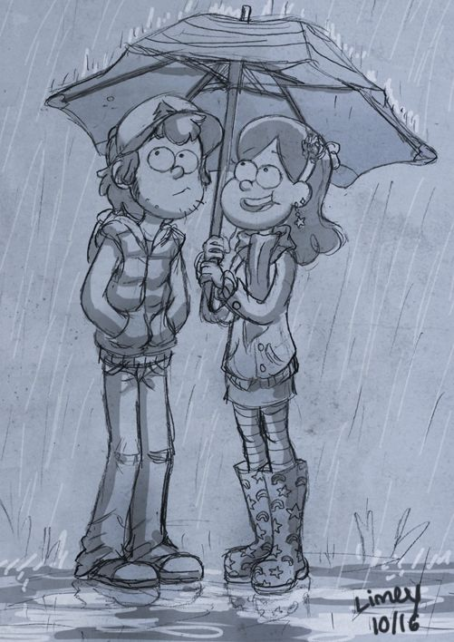 Really good picture of Mabel and Dipper MABEL HAS SHORT HAIR OMG