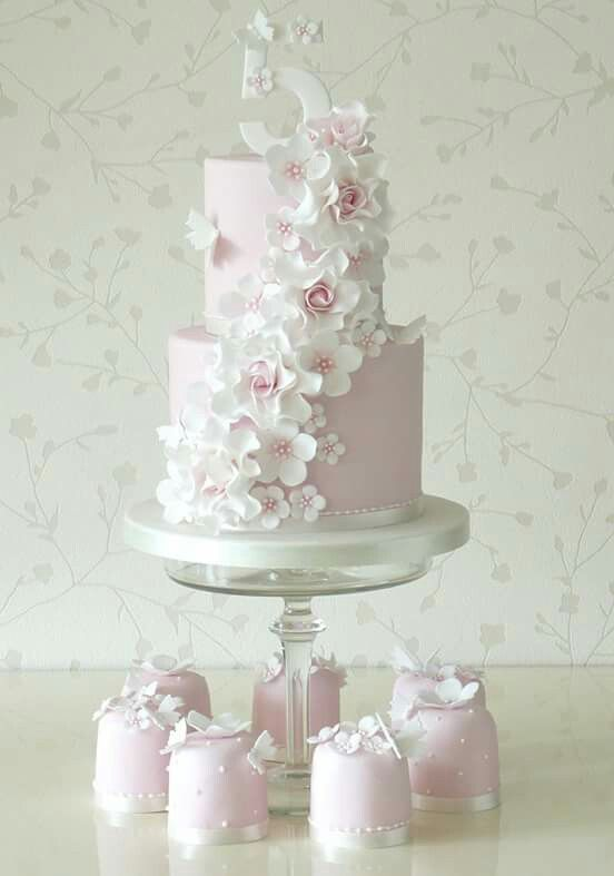 5th birthday cake girl could be nice also for first communion or 18th