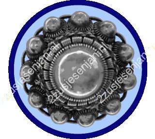 Strijkapplicatie Zeeuwse Knop 'blauw'