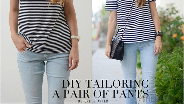 DIY tailoring to make your jeans fit perfectly