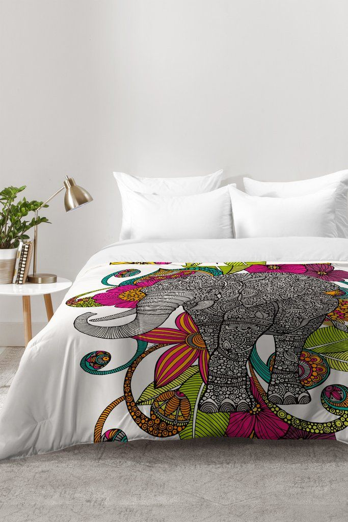 Valentina Ramos Ruby The Elephant Comforter | DENY Designs Home Accessories