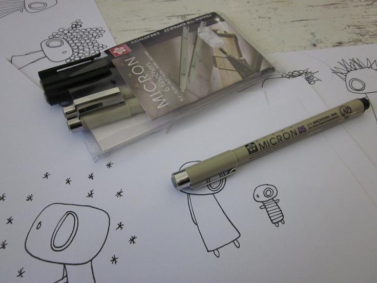 Planning new miniprint series - for www.kuvituksia.com