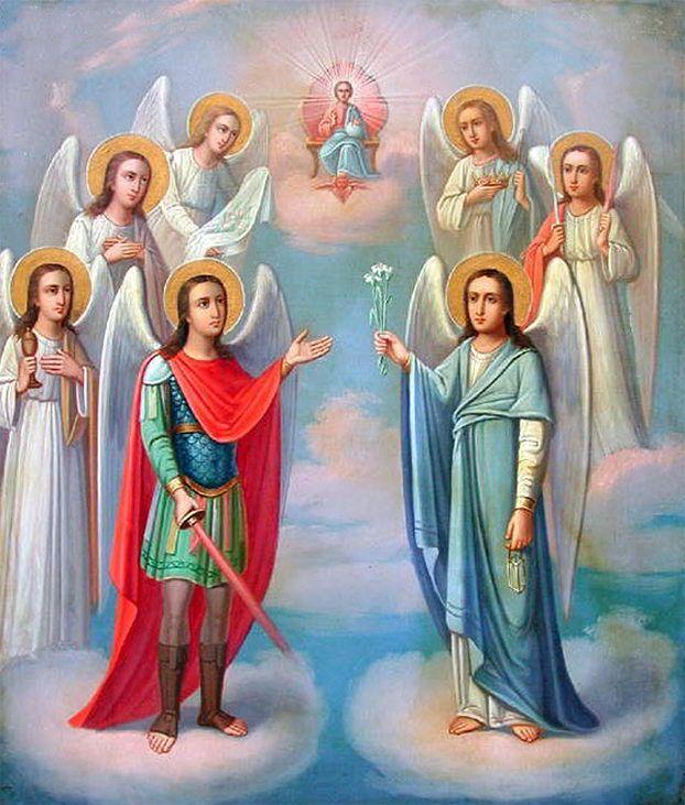 счёт ангелы господни имена с картинками крупным
