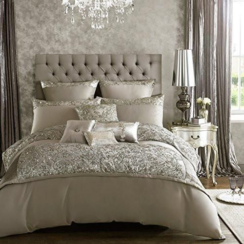 Sumptuous silver sequined design on a soft satin feel duvet cover.;Official Kylie Minogue designer bedding;1 x Super King Duvet Cover (260 x 220cm);Material: 10