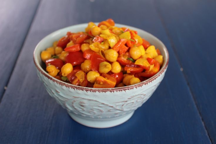 Latest recipe involving my love of chickpeas.  http://mynotesfromnewengland.com/mexican-chickpeas/