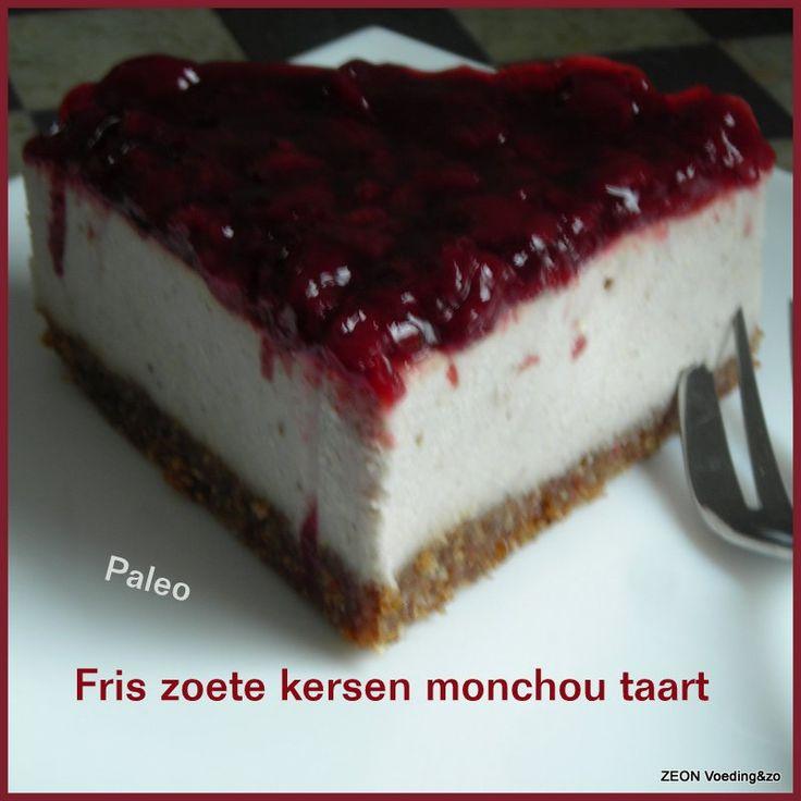 Paleo kersen monchou taart
