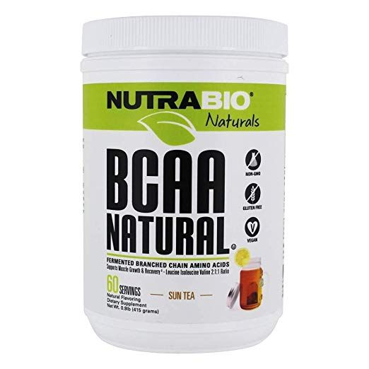 NutraBio BCAA Natural Powder - 60 Servings (Sun Tea) | Health