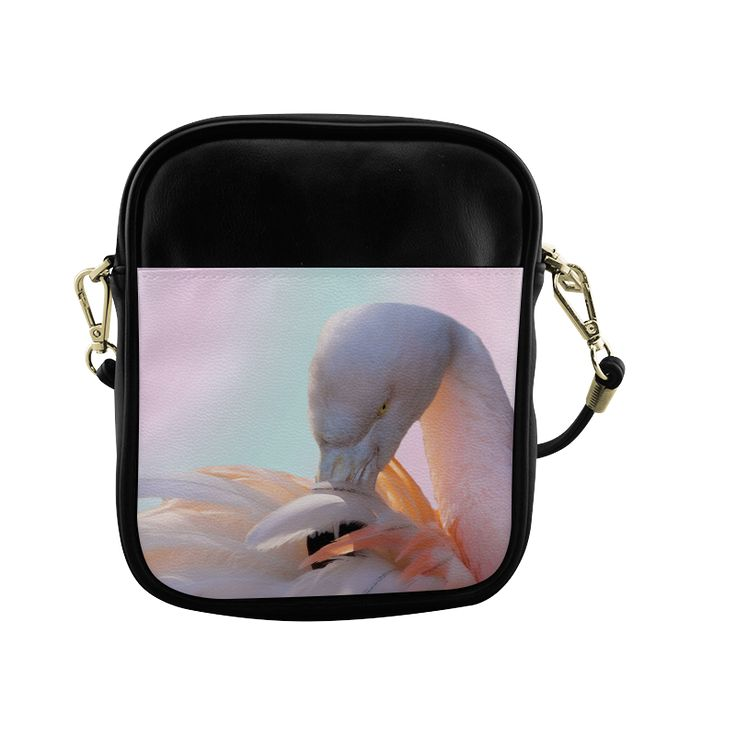 Pink Flamingo Pink Sling Bag (Model 1627)