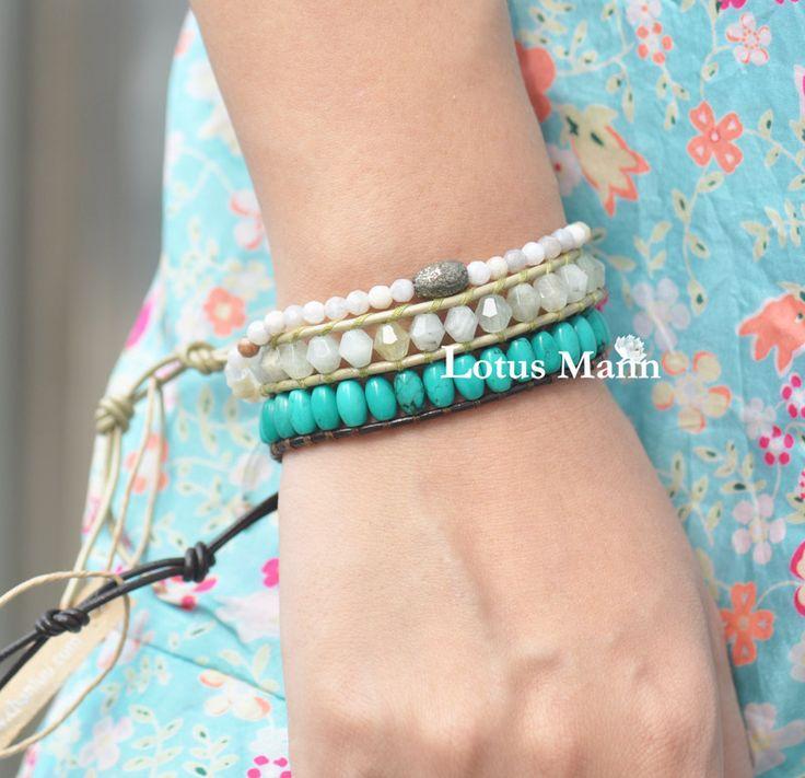 Лотоса turcos манн cylinding бусины сингл-ювелирные круг кожаный шнур браслет
