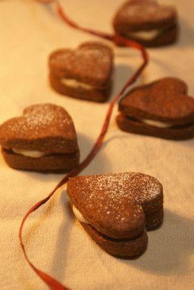 バレンタイン♡チョコサンドクッキー