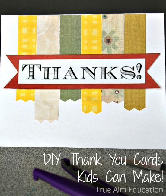 Give thanks this holiday to people who serve you in your community with DIY Thank You Cards for kids!