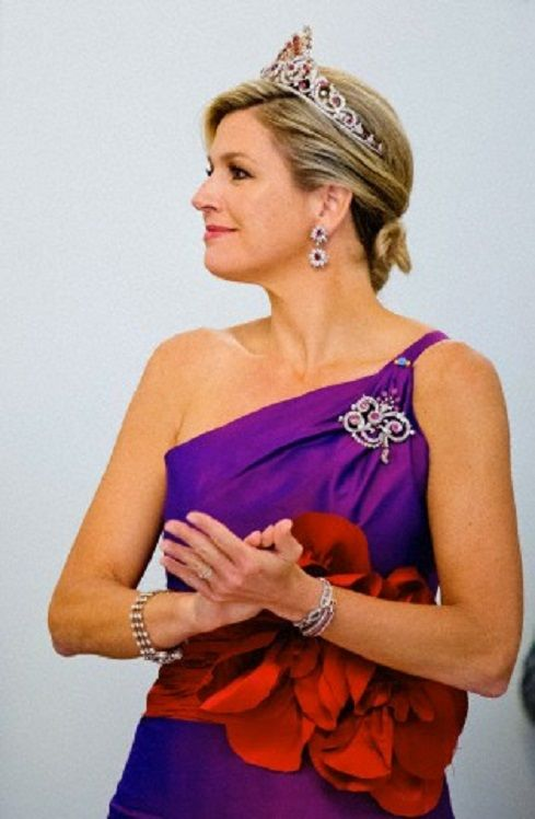 Queen Maxima of The Netherlands attends the official state banquet at the presidential palace in Warsaw, Poland, 24.06.2014.