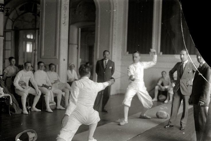 Campeonato de esgrima. años 30 Gran Casino de San Sebastián