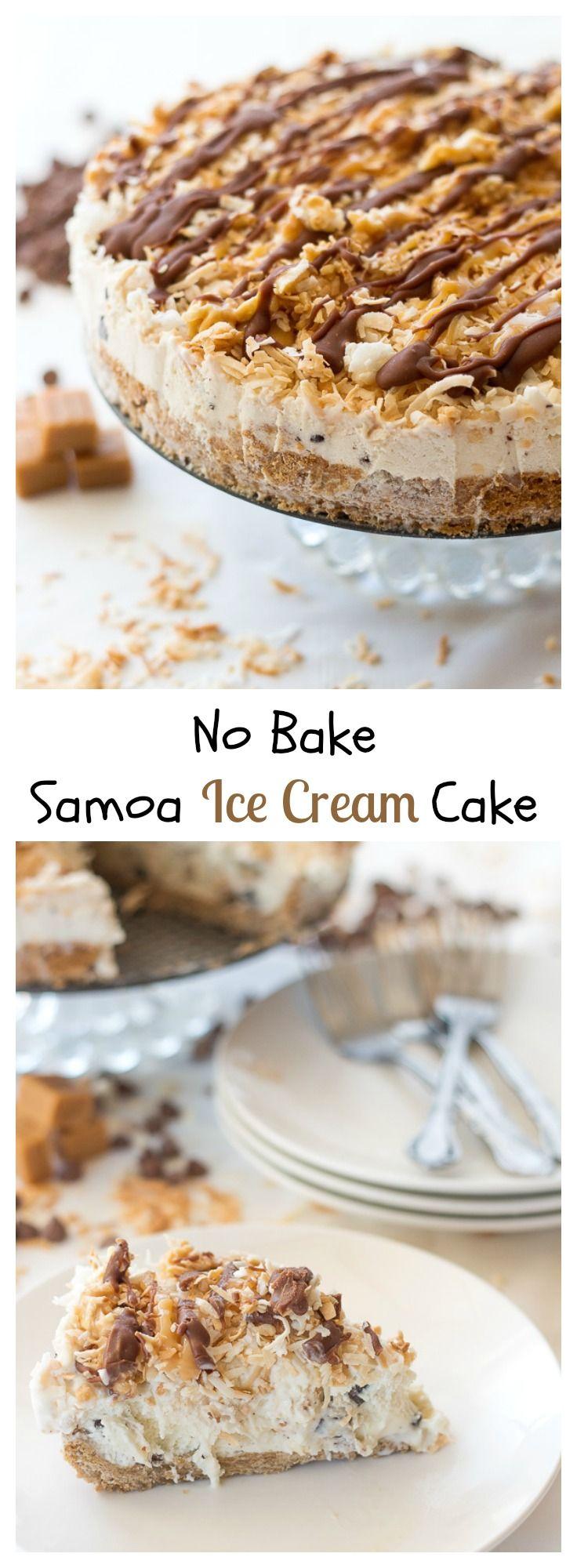 Samoa Ice Cream Cake | Recipe | Samoa, Ice Cream Cakes and Cream Cake