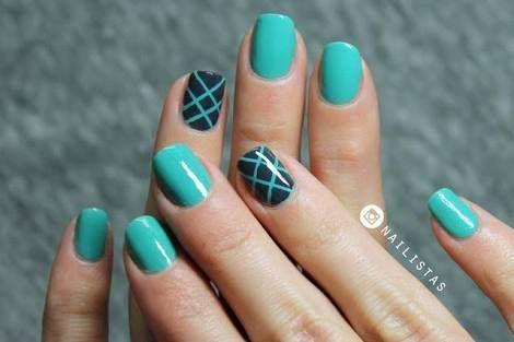 uñas con diseños faciles de hacer para uñas cortas - Buscar con Google