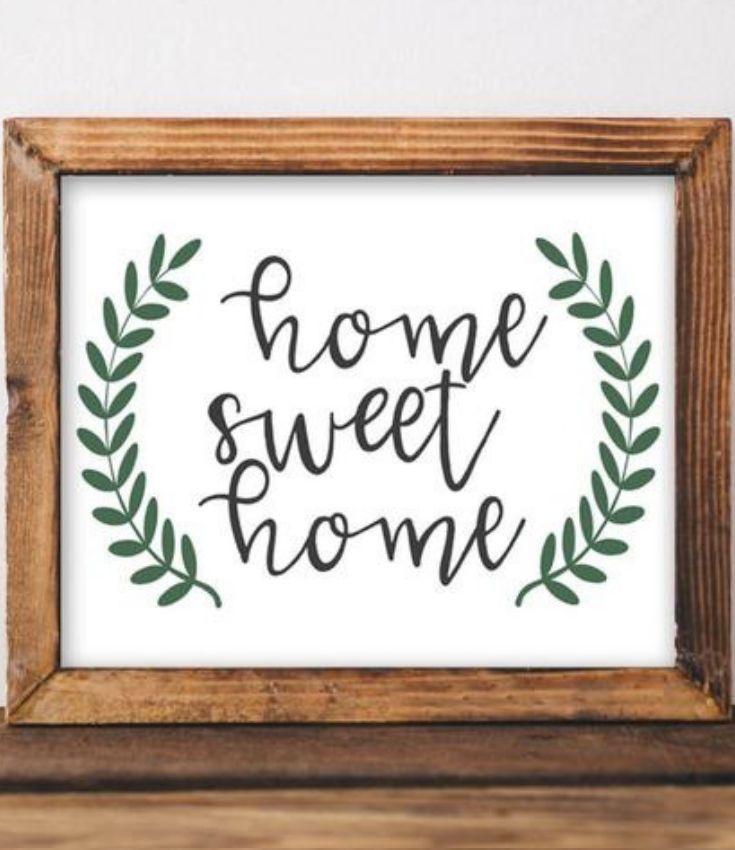 Home Sweet Home Printable Sweet Home Entryway Decor Decor