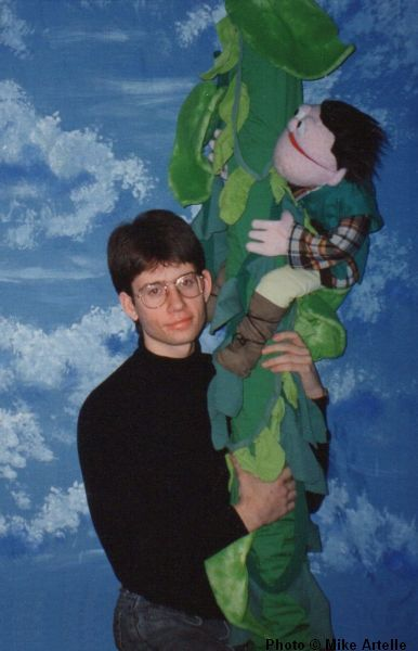 Hanging around with Jeremy (as Jack) during my early 20's for a photo used to promote my production of Jack and the Beanstalk, mid 1990's.