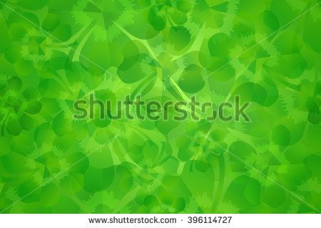 Fresh green four leaf clover / shamrock for luck as seamless pattern background. Illustration for Saint Patrick's Day, suitable for greeting card background texture.