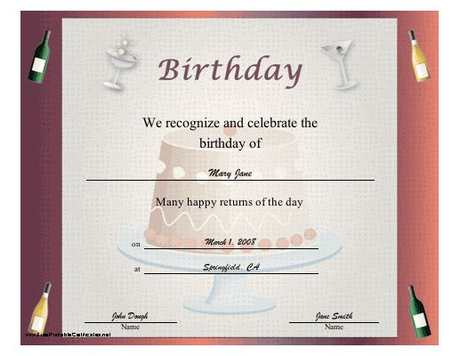151 best Printables images on Pinterest Family tree chart - happy birthday certificate templates