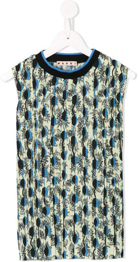 f27571cea sleeveless printed blouse #Marni#Kids#featuring | kids fashion