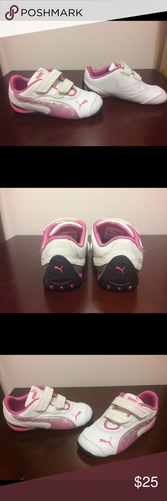 PUMA brand new Pink/white with Rinestones Puma Shoes Sneakers